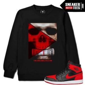 Banned 1 Jordans matching black crewneck