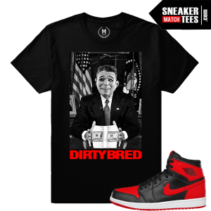 Bred 1 Jordan Retros T shirt Match