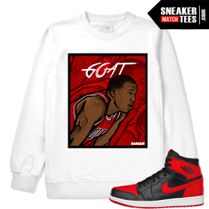 Jordan 1 Banned Matching White Crewneck Sweatshirt