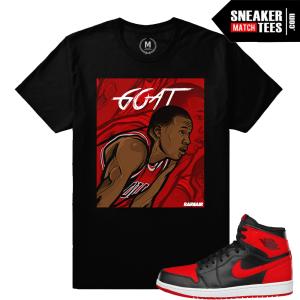 Jordan 1 Bred match Sneaker tees