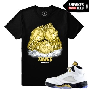 Jordan Retros 5 Olympic t shirt match