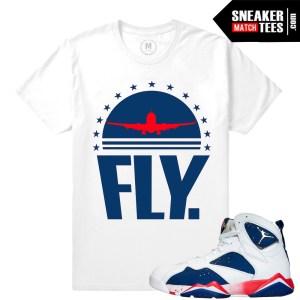 Shirts match Sneakers Jordan 7 Alternate
