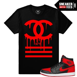 Sneaker tees match Banned 1 Jordan Retro