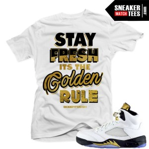 T shirts match Olympic 5 jordan retros