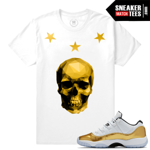 Gold 11s t shirt match