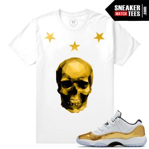 Gold 11s t shirt match