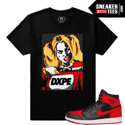 Harley Quinn Sneaker tee shirt Match Banned 1s