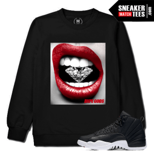 Jordan 12 Neoprene Match Black Crewneck Sweatshirt