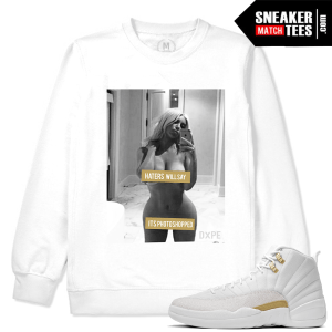 Jordan 12 OVO Match White Sweatshirt