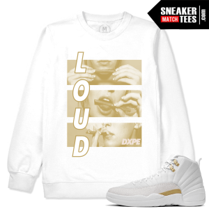 Match OVO 12 Jordan White Sweatshirt
