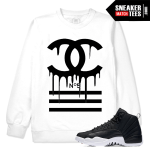 Neoprene 12 Retros Match White Crewneck Sweatshirt