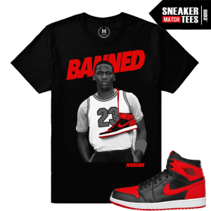Shirts matching Banned 1 Sneakers