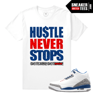 T shirt Match Sneaker True Blue 3s