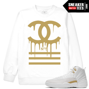 White Sweatshirt Match OVO 12 Jordans