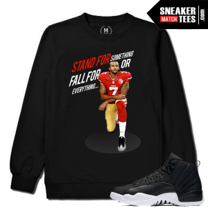 Kaepernick Black Lives Matter Match Black Crewneck