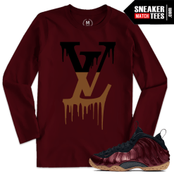 Maroon Foamposite Match Long Sleeve T shirt