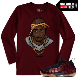 Maroon Foams Shirt Matching Sneakers