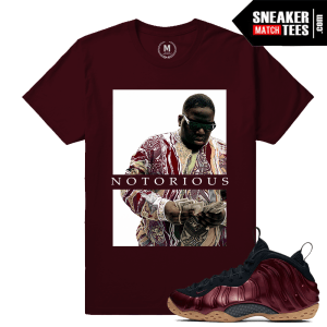 Maroon Foams T shirt Matching Sneakers