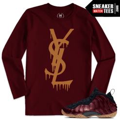 Match Maroon Foams T shirt