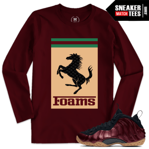 Night Maroon Foams Sneaker Tee Shirts