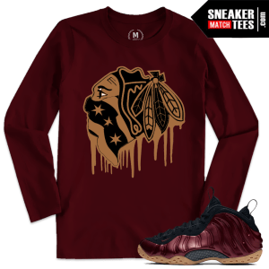 Night Maroon Nike Foams T shirt