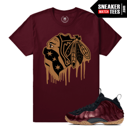 Nike Maroon Foams T shirt Matching