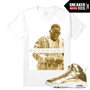 Pinnacle Gold 6s Jordan T shirts