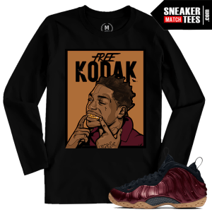 Sneaker Shirts Maroon Foams Match