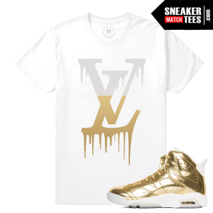 Sneaker Tees Jordan 6 Pinnacle Gold
