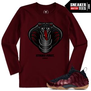 Sneaker Tees Match Maroon Foams