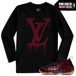 T shirts matching Foams Maroon Night