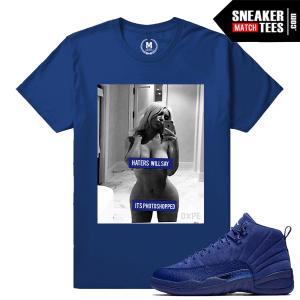 Blue Suede 12 Jordan Retro T shirt