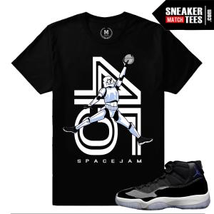 Jordan 11 Space Jam Matching Jordan T shirt