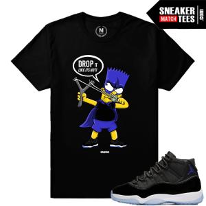 Jordan 11 Space Jam T shirt Match Sneakers