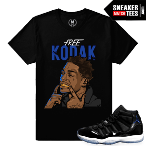 Jordan 11 Space Jam shirt Matching