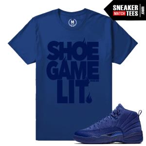 Jordan 12 Blue Suede Color T shirt