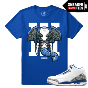 Jordan 3 True Blue Match Shirt