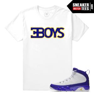 Jordan 9 Matching T shirt Kobe Jordan 9