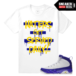 Jordan 9 Tour Yellow Sneaker Tees Match