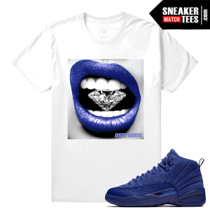 Matching Shirt Blue Suede 12s