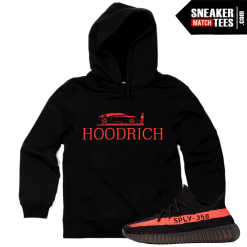 Sneaker Match Tees Yeezy Boost 350 V2 Black Red