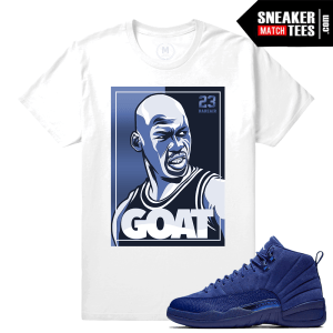 Match Jordan 12 Blue Suede Gucci Drip Blue T-shirt  c4932e932