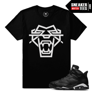 Black Cat 6s Match Sneaker Tee Shirt