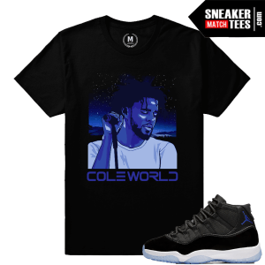 J cole T shirt Matching Space Jam 11s