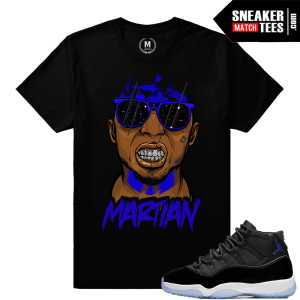 Jordan 11 Space Jam tee matching sneakers