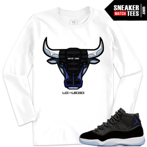 Jordan 11 Space Jam Matching Shirt Clothing