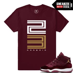 Jordan 11 Velvet Maroon T shirt Matching