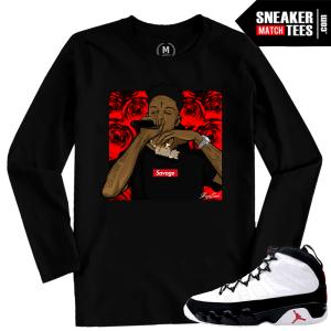 Jordan 9 OG Space Jam T shirt Match