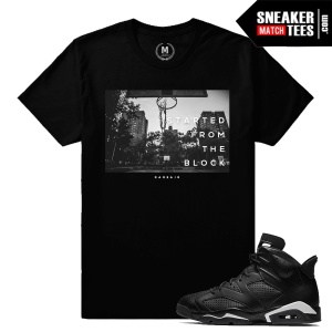 Shirts match Sneakers Black Cat 6 Jordan