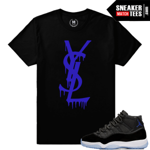 Sneaker Match Tees Space Jam 11 Concord Purple